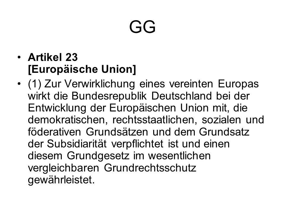 GG Artikel 23 [Europäische Union]